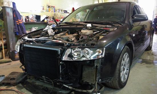 Где покрасить капот Audi A4 в Нижнем Новгороде. Кузовной центр GutWagen.